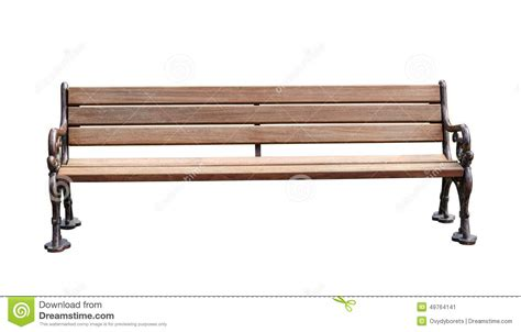 photo bench park bench isolated over white background with clipping