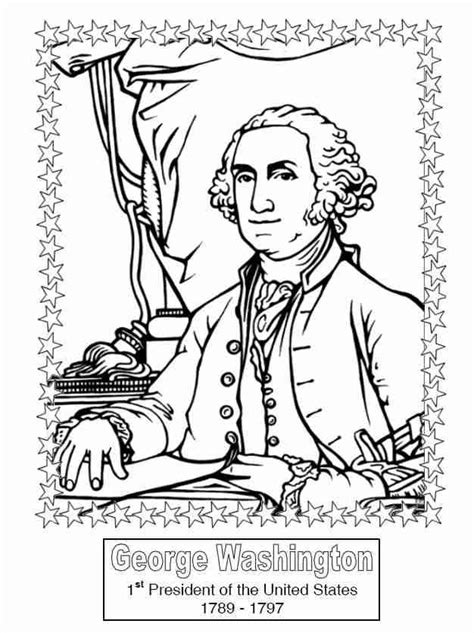 coloring pages of united states presidents 10 best images about historical coloring pages for kids on