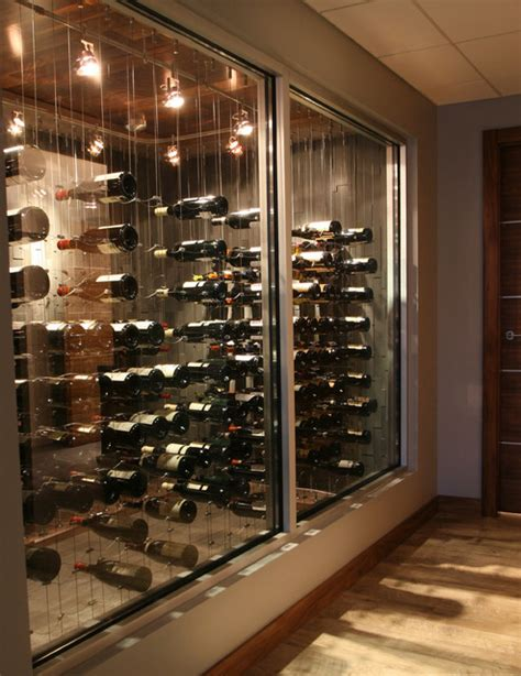 cable wine system projects modern wine cellar ottawa