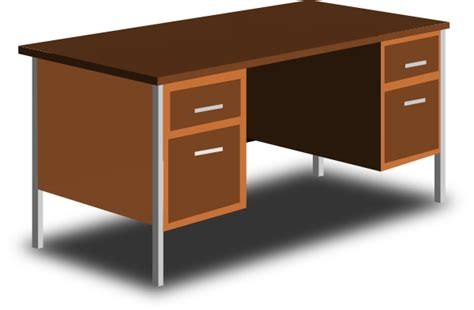bureau clipart an office desk clip at clker com vector clip