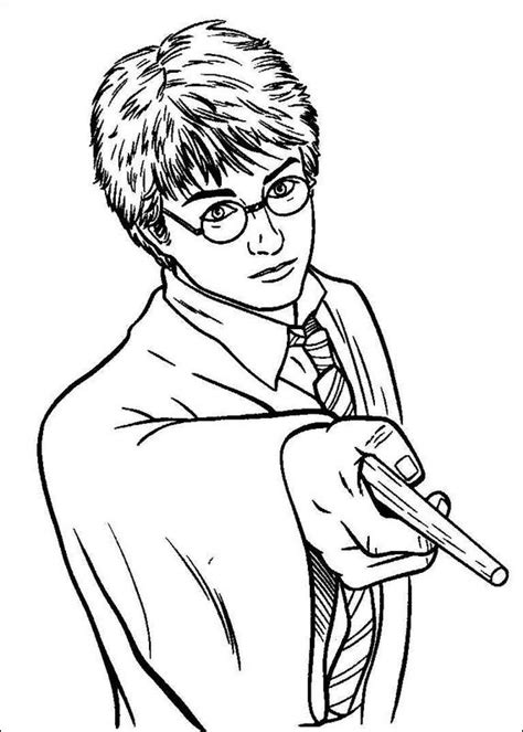 free coloring pages of harry potter color pages