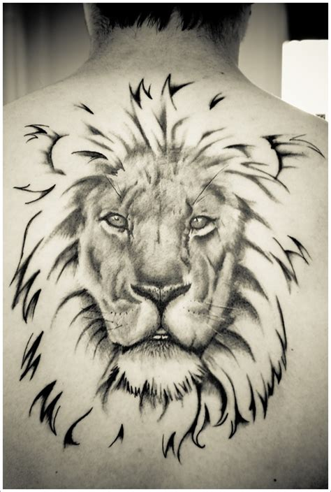 lion tattoo on back images