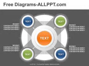 powerpoint diagram templates 5 relationship powerpoint diagram template free