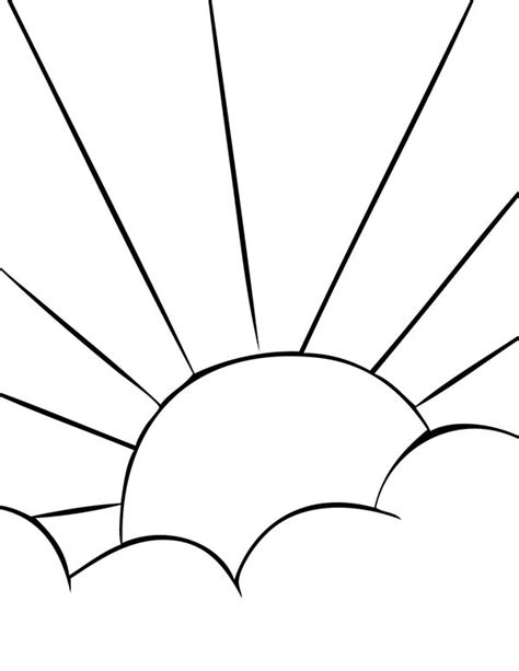 sun rays coloring page best photos of smiling sunrise coloring page printable