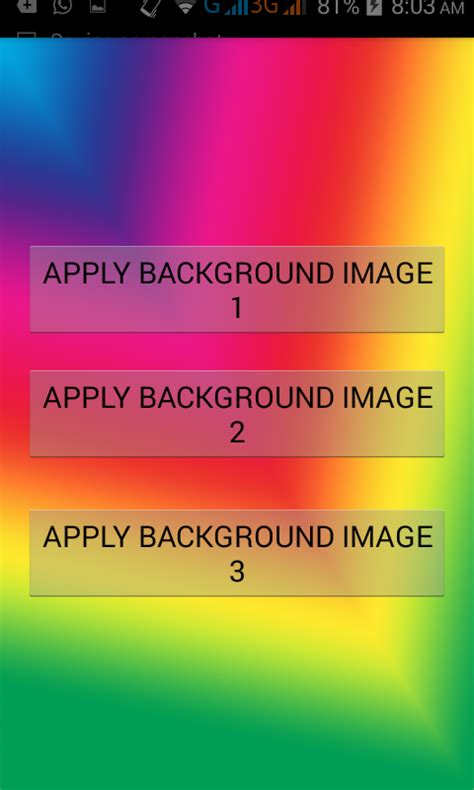 android design layout programmatically set activity layout background image programmatically