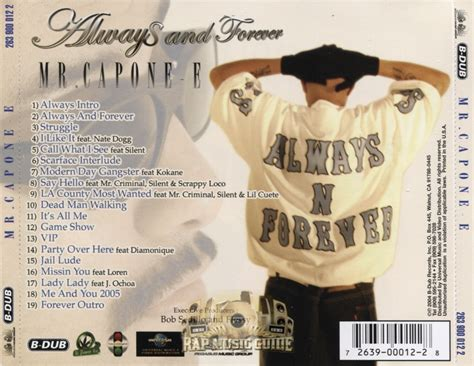 Lil Scrappy Criminal Record Mr Capone E Always And Forever Cd Rap Guide