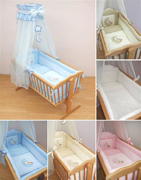 Cradle Bedding Sets 9 Crib Baby Bedding Set 90 X 40 Cm Fits Swinging Rocking Cradle Moon Ebay