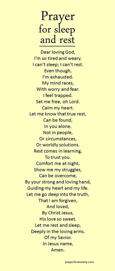may you find peace and comfort let this prayer for sleep and rest inspire you to seek