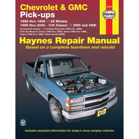 haynes manuals 174 chevy tahoe 1995 1998 repair manual haynes repair manual chevrolet gmc pick ups 88 00 by haynes at mills fleet farm