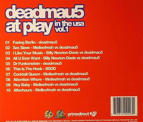 Us Records Index Volume 1 Deadmau5 Various Deadmau5 At Play In The Usa Vol 1 Vinyl