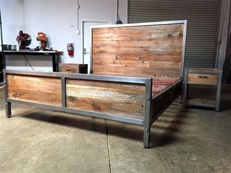 Vintage Einrichtung Shop by Reclaimed Wood And Metal Industrial Bed Modern Classic