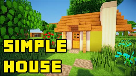 how to make a house a home minecraft simple survival house build tutorial xbox pc pe