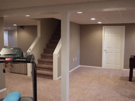 finished basement ideas with proper furnishing worth to