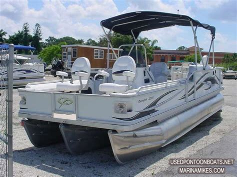 used fishing pontoon boats for sale sold 2008 crest 22 superfisherman yamaha 150 hp