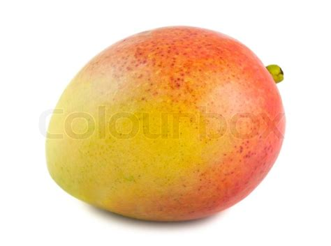 what color is a ripe mango single ripe mango isolated on white background stock