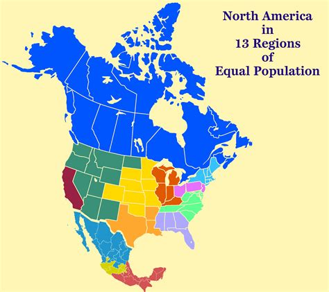 map of america divided into regions america equal population map us and canada