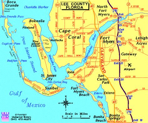 cape coral map of florida cape coral maps