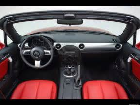 black salon mazda mx 5 limited black car interior