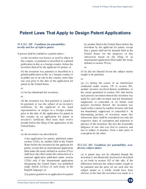 design patent meaning a guide to filing for a design patent via uspto