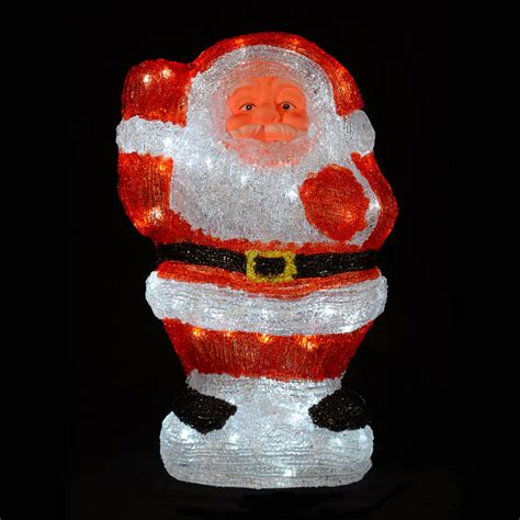 waving santa lights acrylic waving santa claus led light up