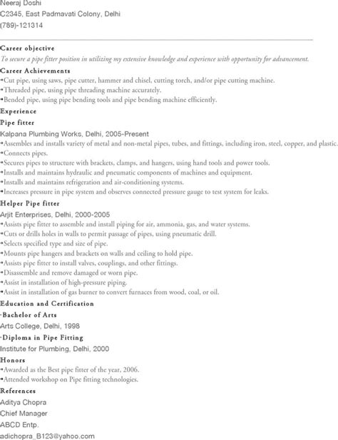 Pipefitter Resume by Pipefitter Resume Templates Free Premium Templates Forms Sles For Jpeg Png