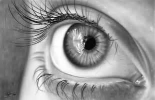 Charcoal Duvet Cover Eye Study Drawing Drawing By John Harding