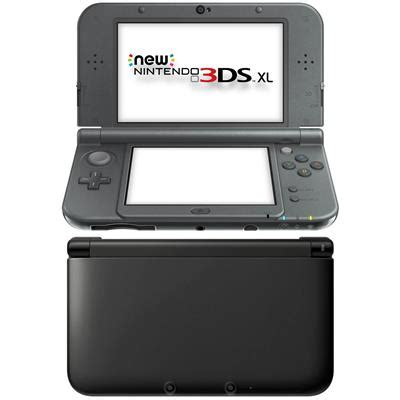 new3ds xl black new nintendo 3ds xl console metallic black jb hi fi