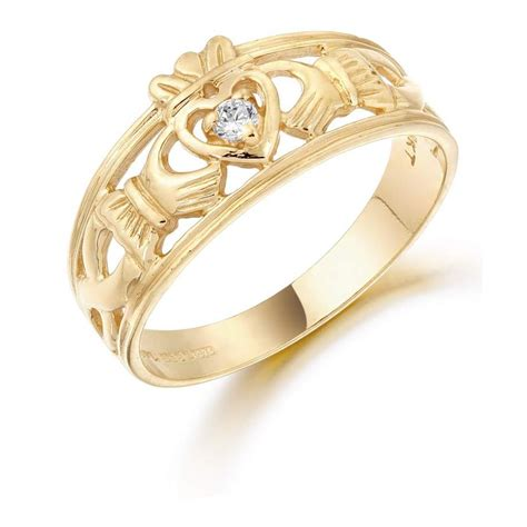 9k gold claddagh ring cl26
