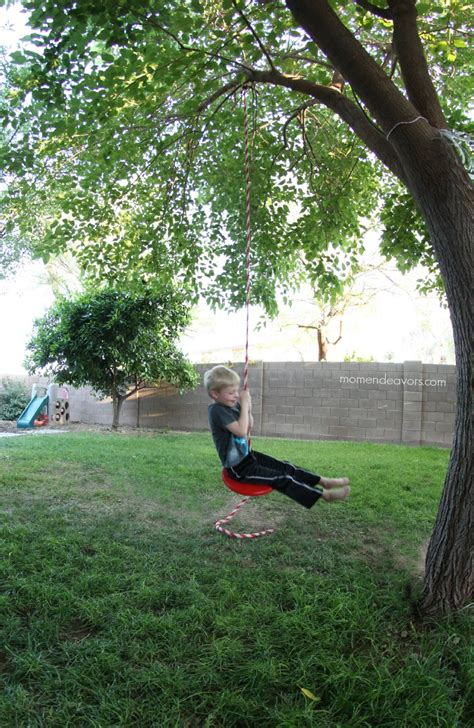 backyard tree swing simple diy tree swing