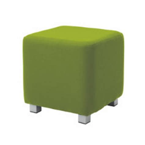 kate curved design reception seating cube stool soft lime