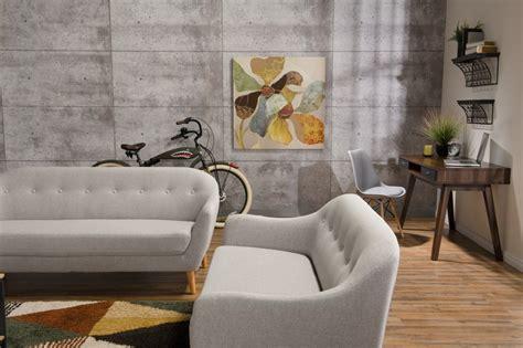 calla linen  fabric sofa light grey  brick