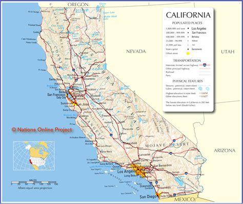 california map image free california map free large images