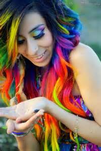 with colorful hair rainbow hair color hair hair different colors