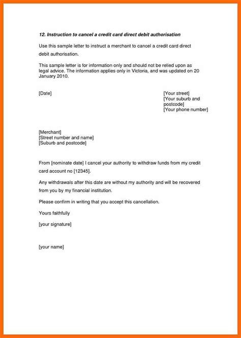 authorization letter to cancel account 10 cancellation letter credit letter sle