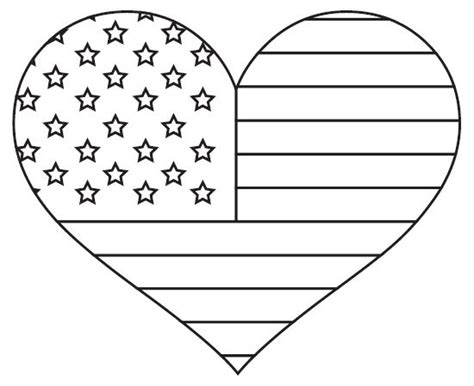 american flag heart coloring page fun fourth grade collaboration classroom