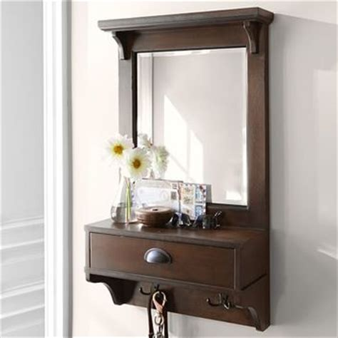 Wall Mounted Entryway Organizer wall mount entryway organizer mirror from pottery barn