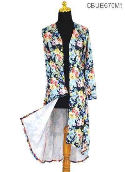 Atasan Wanita Outer Zaskia Cardigan Lengan Panjang Murah K001 srikandi outer batik atasan muslim murah batikunik