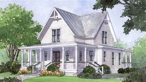 simple farmhouse design house plan of the month four gables southern living