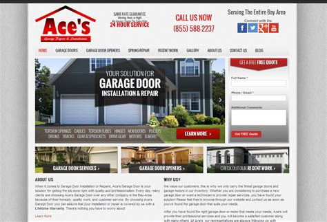 Garage Web 20 Great Local Business Lead Generation Website Designs