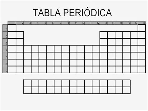 tablas en blanco para imprimir tablas peri 243 dicas en blanco imagui
