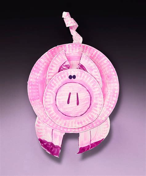 pig crafts for paper plate pig craft crayola