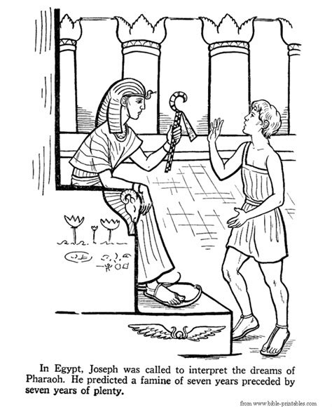 printable bible coloring pages joseph joseph in egypt