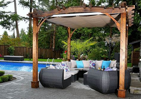 10 x12 arched breeze pergola with retractable canopy