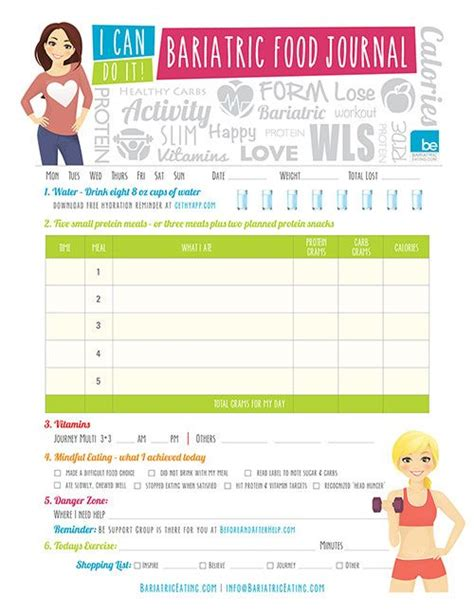 free printable bariatric food journal 25 best ideas about food journal on pinterest food