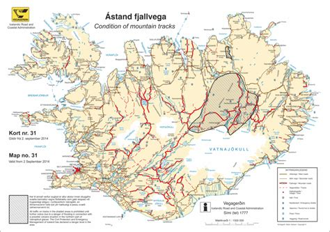 printable road map of iceland f roads iceland map