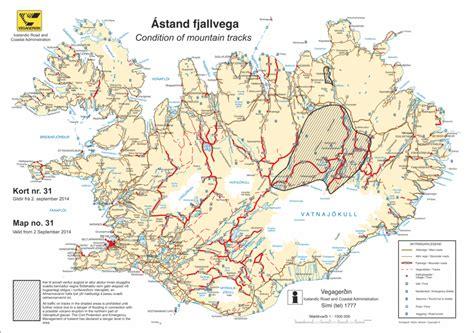 f map f roads iceland map