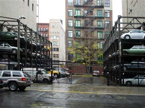 Parking Garage Manhattan by Vertical Car Parking Manhattan New York Nyc Usa