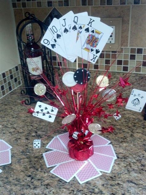casino centerpieces and centerpieces on