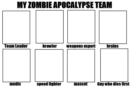 zombie apocalypse team blank template imgflip