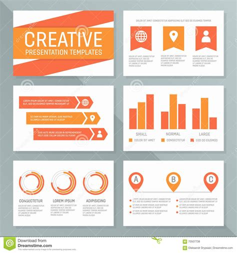 Vector Business Presentation Template Set Graph And Chart Chart Presentation Design